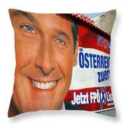 Austrian Politics Throw Pillow by Jason O Watson