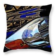 Auto Headlight 113 Throw Pillow by Sarah Loft