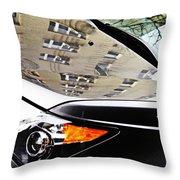 Auto Headlight 98 Throw Pillow by Sarah Loft