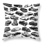 AUTOMOTIVE PEN AND INK POSTER Throw Pillow by Jack Pumphrey