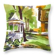 Autumn At The Rectory Throw Pillow by Kip DeVore