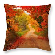 Autumn Cameo Throw Pillow by Terri Gostola