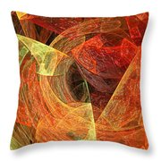 Autumn Chaos Throw Pillow by Andee Design