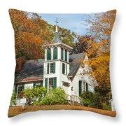 Autumn Church Throw Pillow by Bill  Wakeley