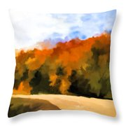 Autumn Fringe Throw Pillow by Jo-Anne Gazo-McKim