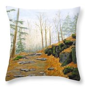 Autumn Hike Throw Pillow by Peggy King