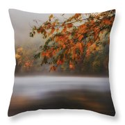 Autumn Lake Throw Pillow by Bill  Wakeley