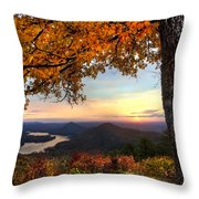 Autumn Lake Throw Pillow by Debra and Dave Vanderlaan