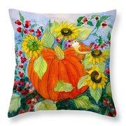 Autumn Throw Pillow by Laura Nance