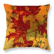 Autumn Leaves Throw Pillow by Ann Powell