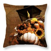 Autumn Light Post Throw Pillow by Dan Sproul
