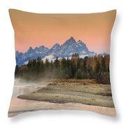 Autumn Mist Throw Pillow by Mark Kiver