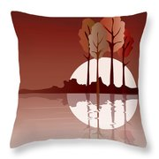 Autumn Reflected Throw Pillow by Jane Rix