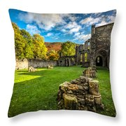 Autumn Ruins Throw Pillow by Adrian Evans