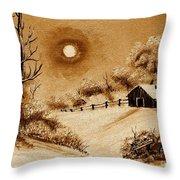 Autumn Snow Throw Pillow by Barbara Griffin