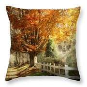 Autumn - Westfield Nj - I Love Autumn Throw Pillow by Mike Savad