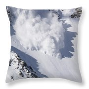Avalanche IIi Throw Pillow by Bill Gallagher