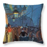 Avenue De Clichy Paris Throw Pillow by Louis Anquetin