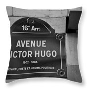 Avenue Victor Hugo Paris Road Sign Throw Pillow by Nomad Art And  Design