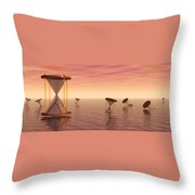 Awash In Time Throw Pillow by Jerry McElroy