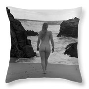 Away Number Three Throw Pillow by Catherine Lau