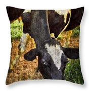 Awww Shucks Throw Pillow by Debra and Dave Vanderlaan