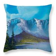 Azure Ridge Throw Pillow by C Steele