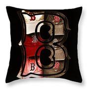 B For Bosox - Vintage Boston Poster Throw Pillow by Joann Vitali