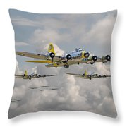 B17 486th Bomb Group Throw Pillow by Pat Speirs