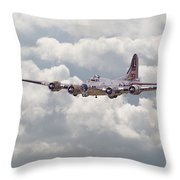 B17- Yankee Lady Throw Pillow by Pat Speirs