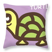 Baby Turtle Nursery Wall Art Throw Pillow by Nursery Art