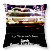 Back From The Future Throw Pillow by Renee Trenholm