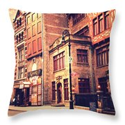 Back In Time - Stone Street Historic District - New York City Throw Pillow by Vivienne Gucwa
