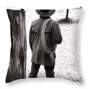 Back To Work Throw Pillow by Olivier Le Queinec