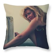 Back When There Were Heatwaves Throw Pillow by Laurie Search