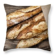 Baguettes Bread Throw Pillow by Elena Elisseeva