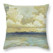 Bahama Island Light Throw Pillow by Thomas Moran