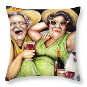 Bahama Mamas Throw Pillow by Shelly Wilkerson