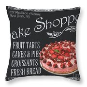 Bake Shoppe Throw Pillow by Debbie DeWitt