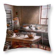 Baker - Kitchen - The Commercial Bakery  Throw Pillow by Mike Savad