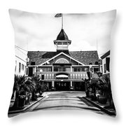 Balboa California Main Street Black And White Picture Throw Pillow by Paul Velgos