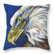 Bald Eagle Throw Pillow by Lovejoy Creations