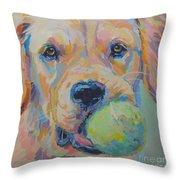 Ball Throw Pillow by Kimberly Santini