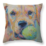 Ball Throw Pillow by Kimberly Santini