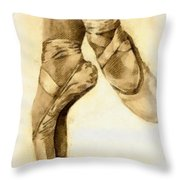Ballerina Shoes Throw Pillow by Yanni Theodorou