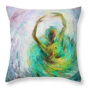 Ballerina Throw Pillow by Xueling Zou