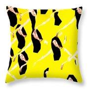Ballet Dancers Throw Pillow by Patrick J Murphy