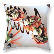 Balsamic Salad Throw Pillow by Donna Wilson