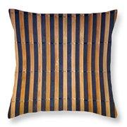 Bamboo Mat Texture Throw Pillow by Tim Hester