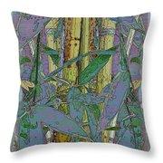 Bamboo Study 9 Throw Pillow by Tim Allen